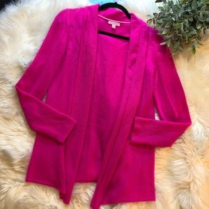 Lilly Pulitzer Sweaters - Lilly Pulitzer Pink Carolina Cashmere Open Sweater